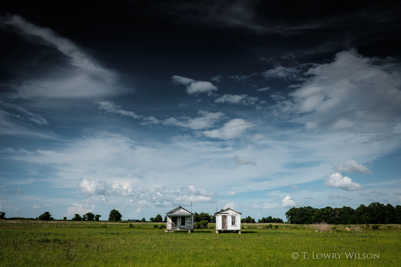 Two shacks in the Mississippi Delta near Belzoni Mississippi