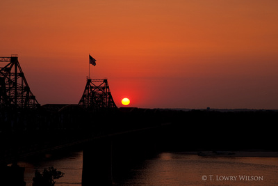 Sunset Over the Mississippi River at Vicksburg