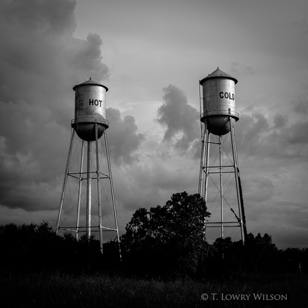 ruleville mississippi hot and cold water towers stormy sky perfect light